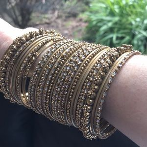 Nordstrom Gold Bangle Bracelet Set